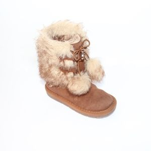 Michael Kors Toddler Girl Size 9 Faux Fur Boots
